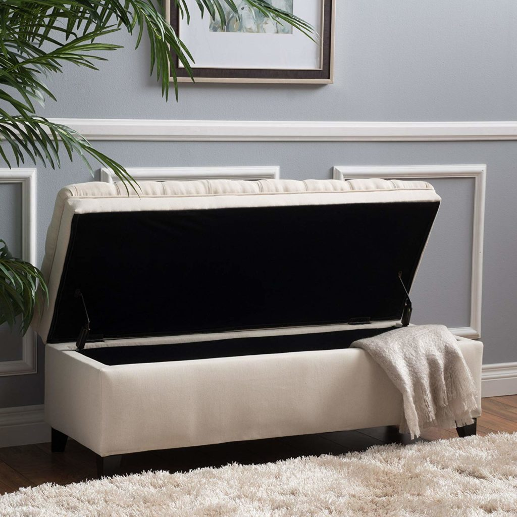 Bedroom Storage Ideas Rectangular Storage Ottoman