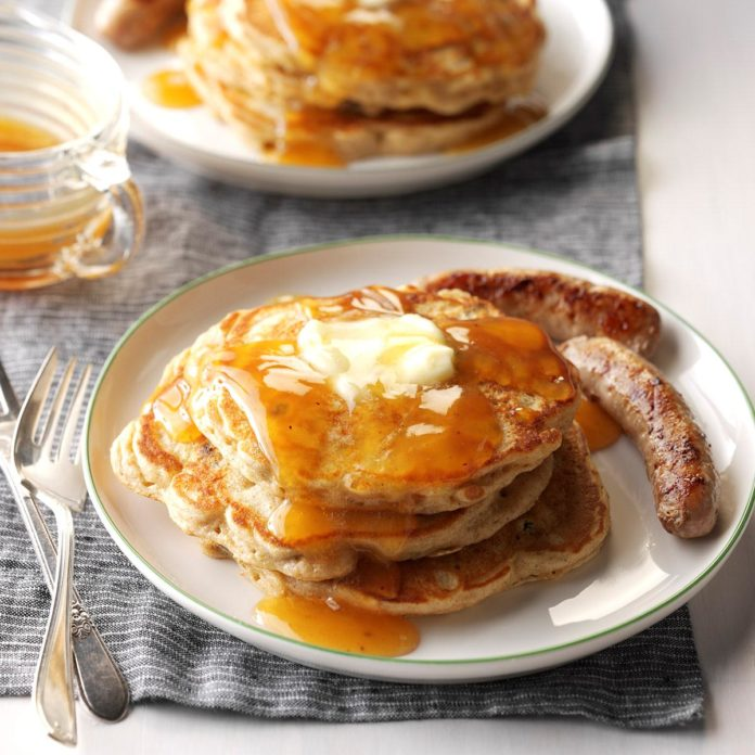 Apple Pancake with Cider Syrup